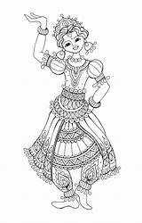 Flamenco Dancer Coloring Spanish Drawing Sketch Template sketch template