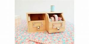 Bureau Avec Rangement : rangement bureau 2 tiroirs en bois ~ Teatrodelosmanantiales.com Idées de Décoration