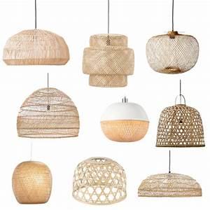 9x zomerse hanglampen van bamboe of riet - Shopinstijl nl