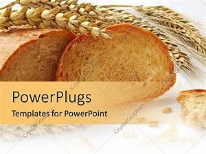 PowerPoint Template: wheat and grains bread with gluten ...