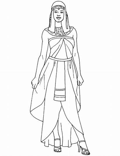 Egyptian Woman Coloring Pages