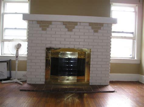 brick fireplace 1914 foursquare brick fireplace restoration