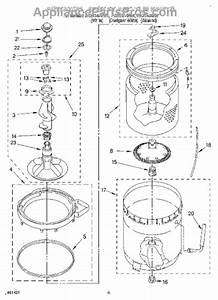 Parts For Roper Rax7244ew1  Agitator  Basket  U0026 Tub Parts