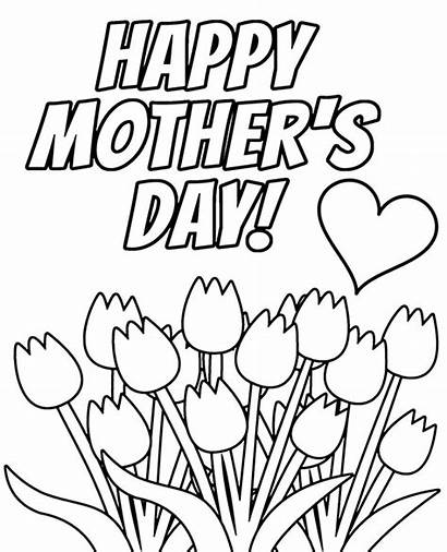 Coloring Card Mothers Mother Cards Printable Pages