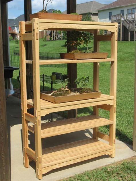 handmade garden shelving unit   woodworking