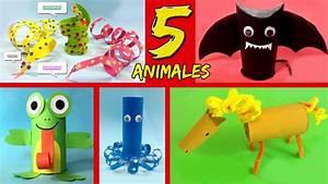 5 ANIMALES con tubos de papel higiénico * Ideas de RECICLAJE YouTube