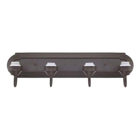 westinghouse 4 light rubbed bronze wall fixture