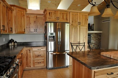 hickory wood cabinets kitchens rustic hickory kitchen cabinets solid wood kitchen 4200
