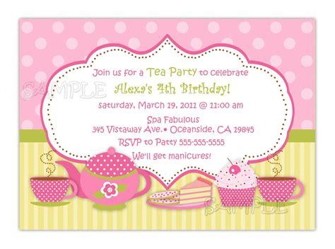 formal invitation wording tea party invitations for bridal shower invitations ideas