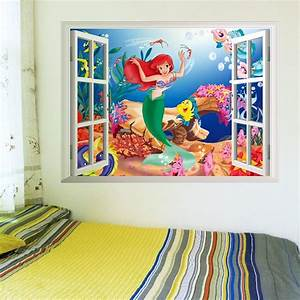 the little mermaid nursery wall decals the treasure thrift With kitchen cabinets lowes with harry potter wall art canvas