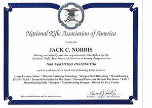 a firearms training nevada pilb and ccw permits bed With nra certificate template