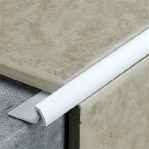 tilerite plastic trim mm  white