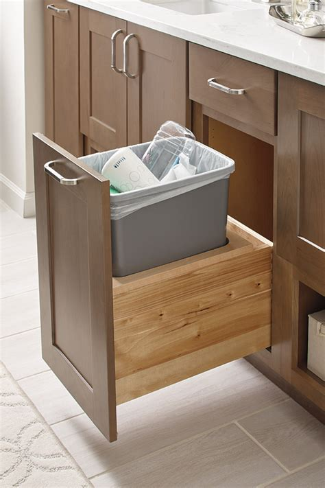 vanity wastebasket cabinet diamond cabinetry