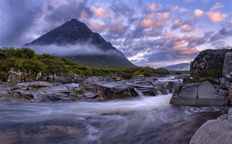 Buachaille Etive Mor, Glencoe Scotland View From The River ...
