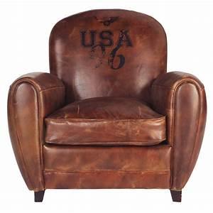 Canapé Vintage Maison Du Monde : fauteuil club marron oxford maisons du monde ~ Teatrodelosmanantiales.com Idées de Décoration