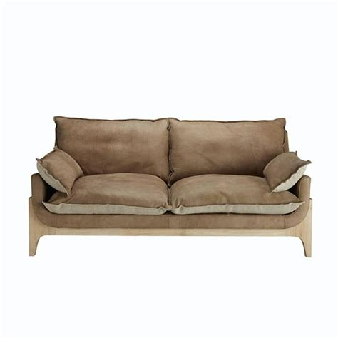 Quality Sofa by Indiana Sofa High Quality Genuine Leather And Linen At 1stdibs