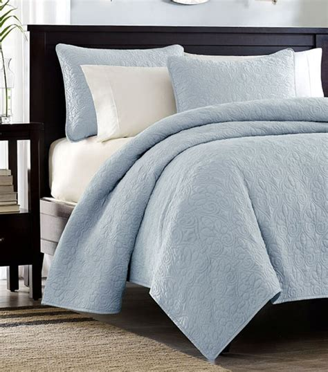Quilted Coverlet by Sky Blue Matelasse 3pc King Quilt Set Cotton Fill Quilt
