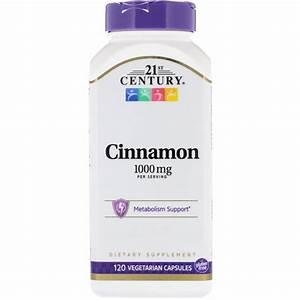 21st Century Cinnamon 500mg Capsules  120 Ct - Walmart Com
