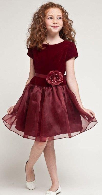 burgundy girls velvet holiday dresses ideas  maggie