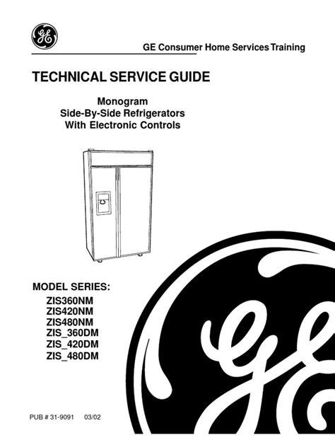 ge monogram refrigerator service manual refrigerator direct current