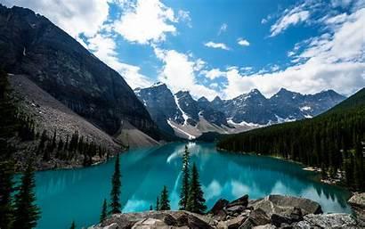 Canada Lake Alberta Banff National Park Wallpapers