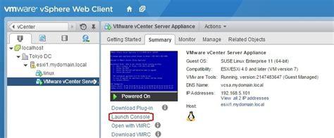 Esx Console by Machine Console In Vcenter Server Vmware Esxi