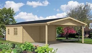 Doppelgarage Aus Holz : doppelgarage mit carport modell falun 70 iso ~ Sanjose-hotels-ca.com Haus und Dekorationen