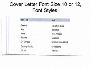 warm up 10 8 08 open all the example cover letters in the With what size font should a cover letter be