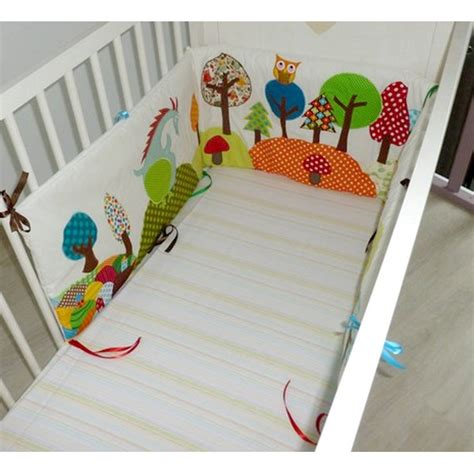 tour de lit pour bebe tour de lit b 233 b 233 th 232 me for 234 t hiboux h 233 risson arbres chignons made in