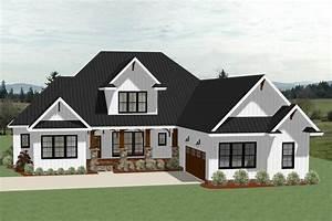 Farmhouse House Plan - 4 Bedrms, 3.5 Baths - 3390 Sq Ft ...