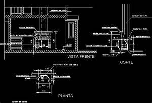 Bricks Wood Stove - Fireplace DWG Section for AutoCAD
