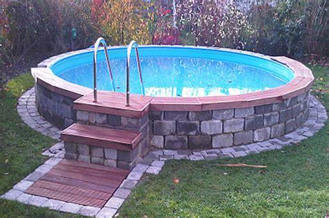 pool eingraben ohne beton pool bodenplatte ohne beton mit conzero