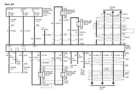 2001 Mustang Mach Radio Wiring Diagram by 2003 2004 03 04 Mustang Mach 460 Wiring Diagram