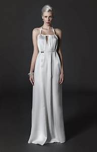 sleek silk charmeuse ivory halter wedding dress with back With charmeuse wedding dress
