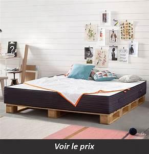 Lit En Palette Avec Rangement : lit en palette 26 id es pour en fabriquer un dans votre chambre ~ Melissatoandfro.com Idées de Décoration