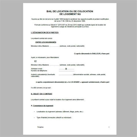 contrat de location maison individuelle gratuit ventana