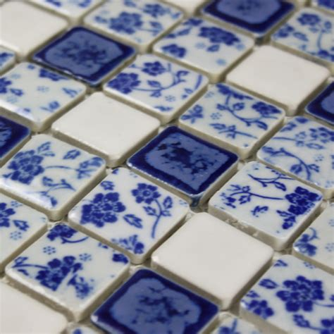 blue and white porcelain tile mosaic tiles ceramic