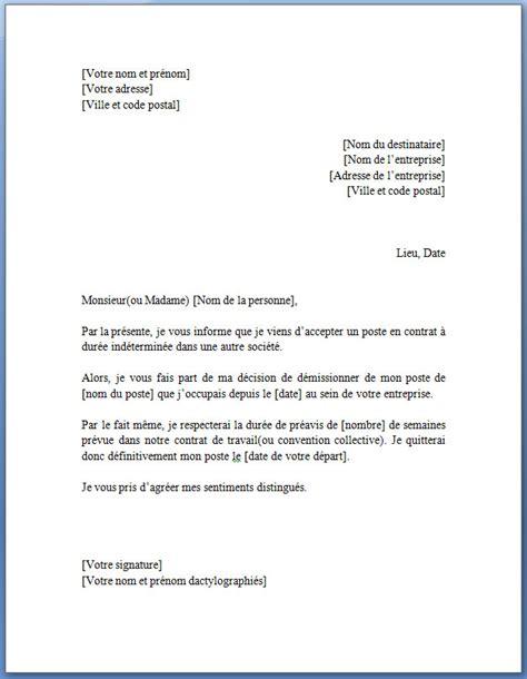 modele de lettre de demission cdd lettre de d 233 mission pour un cdd lettreded 233 mission org