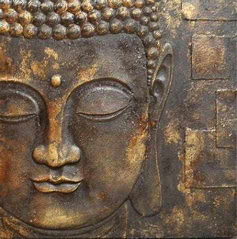 black gold buddha   textured detail canvas wall