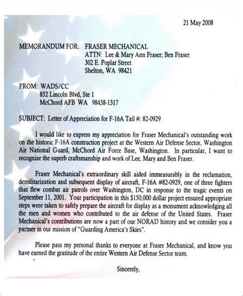 sample air force letter  recommendation  ms