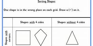 Sorting Shapes Ks1 Reasoning Test Practice