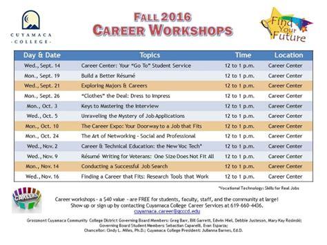 Career Center Resume Workshop by Build A Better R 233 Sum 233 Workshop