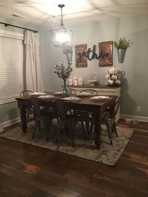 Luckily, most of these farmhouse decor ideas walk a fine line between modern and rustic, so you don't have to part with your favorite antiques or latest. AWESOME STUNNING RUSTIC FARMHOUSE DINING ROOM SET FURNITURE IDEAS #farmhouse #dinningroom # ...