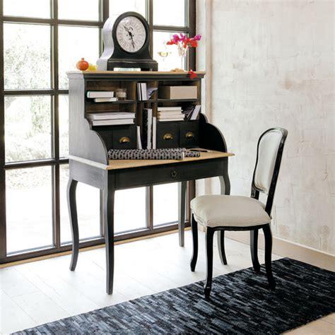 bureau secretaire vintage bureau secrétaire en manguier noir chalk paint vintage
