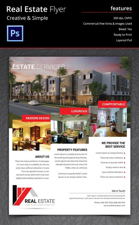 psd real estate marketing flyer templates