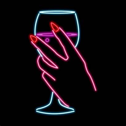 Neon Glow Wine Gifs Dark Lights Giphy