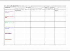 Foundation Stage Weekly Plan Format by bearbear Teaching