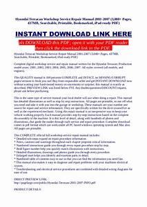 Hyundai Terracan Workshop Service Repair Manual 2001 2007