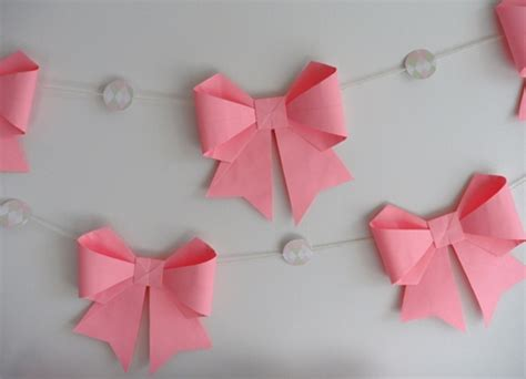 wonderful diy origami paper bow