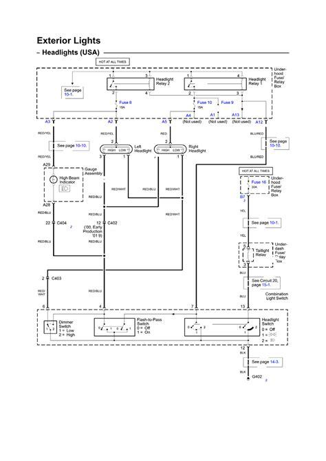 2001 honda insight headlight warning buzzer wiring diagram